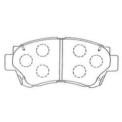 Колодки тормозные дисковые (FIT) FP0476