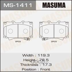 Колодки тормозные (Masuma) MS1411