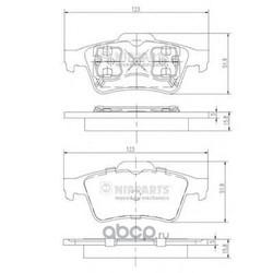 Комплект тормозных колодок, дисковый тормоз (Nipparts) J3611045
