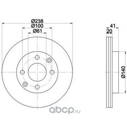 Тормозной диск (Mintex) MDC956