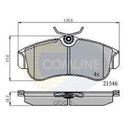 Комплект тормозных колодок, дисковый тормоз (Comline) CBP0566