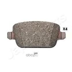 Комплект тормозных колодок, дисковый тормоз (Japanparts) PPL03AF