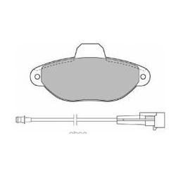 Комплект тормозных колодок, дисковый тормоз (Mapco) 6375