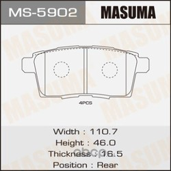 Колодки тормозные (Masuma) MS5902