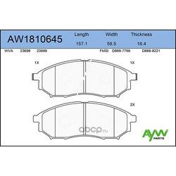 Колодки тормозные передние (AYWIparts) AW1810645