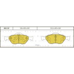 Колодки тормозные дисковые (Blitz) BB0228P