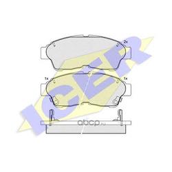 Комплект тормозных колодок, дисковый тормоз (Icer) 181005