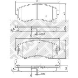 Комплект тормозных колодок, дисковый тормоз (Mapco) 6810