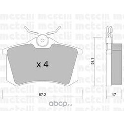 Комплект тормозных колодок, дисковый тормоз (Metelli) 2201001