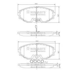 Комплект тормозных колодок, дисковый тормоз (Nipparts) J3601074