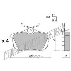 Комплект тормозных колодок, дисковый тормоз (Trusting) 3560