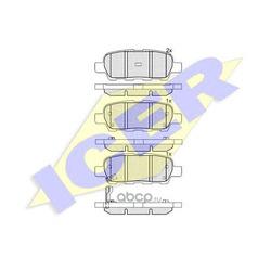 Комплект тормозных колодок, дисковый тормоз (Icer) 181509
