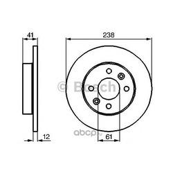 Тормозной диск (Bosch) 0986478105