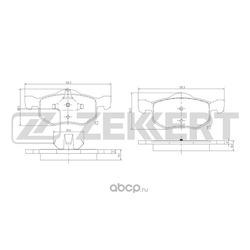 Колодки торм. диск. перед Mazda Tribute (EP) 00- (Zekkert) BS1671