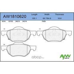 Колодки тормозные передние (AYWIparts) AW1810620