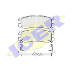 Комплект тормозных колодок, дисковый тормоз (Icer) 180981