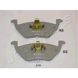 Колодки тормозные дисковые задние, комплект (Japanparts) PP310AF