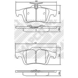Комплект тормозных колодок, дисковый тормоз (Mapco) 6698