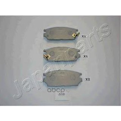 Комплект тормозных колодок, дисковый тормоз (Japanparts) PP510AF