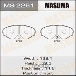Колодки тормозные (Masuma) MS2261