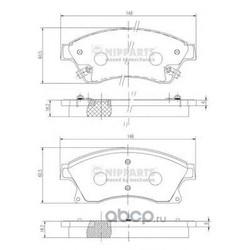 Комплект тормозных колодок, дисковый тормоз (Nipparts) N3600914