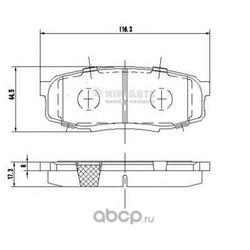Комплект тормозных колодок, дисковый тормоз (Nipparts) N3612043