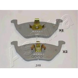 Колодки тормозные дисковые задние, комплект (Ashika) 5103310