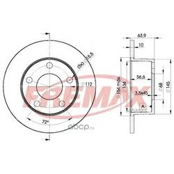 Тормозной диск (FREMAX) BD4060