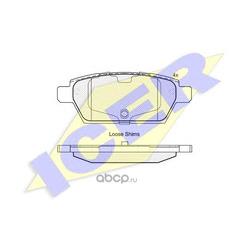 Комплект тормозных колодок, дисковый тормоз (Icer) 181975