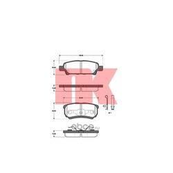 Колодки тормозные дисковые, комплект (Nk) 223027