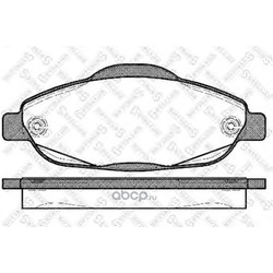 Комплект тормозных колодок (Stellox) 001096BSX