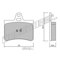 Комплект тормозных колодок, дисковый тормоз (Trusting) 3420