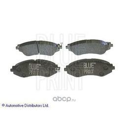 Комплект тормозных колодок, дисковый тормоз (Blue Print) ADG04207