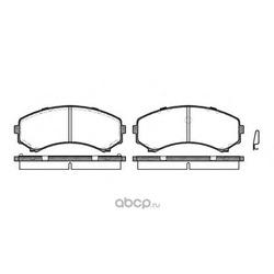 Комплект тормозных колодок, дисковый тормоз (Remsa) 039600