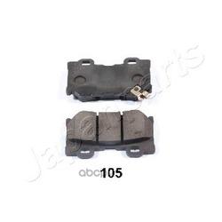 Комплект тормозных колодок, дисковый тормоз (Japanparts) PP105AF