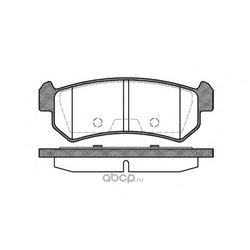 Комплект тормозных колодок, дисковый тормоз (Remsa) 104800