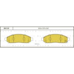 Колодки тормозные дисковые (Blitz) BB0338P