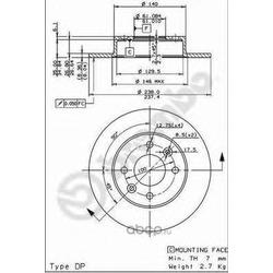 Тормозной диск (Brembo) 08314714