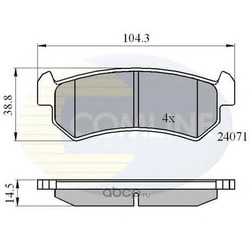Колодки тормозные дисковые, комплект (Comline) CBP01191