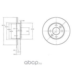 Тормозной диск (Delphi) BG2217