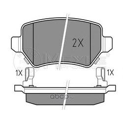 Комплект тормозных колодок, дисковый тормоз (Meyle) 0252341715W