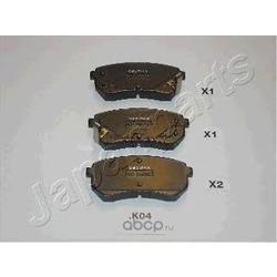 Комплект тормозных колодок, дисковый тормоз (Japanparts) PPK04AF