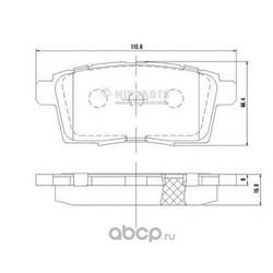 Комплект тормозных колодок, дисковый тормоз (Nipparts) N3613024