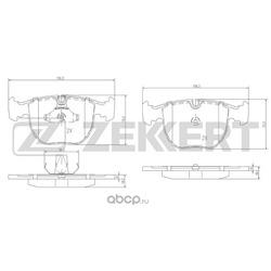 Колодки торм.диск. (Zekkert) BS1150