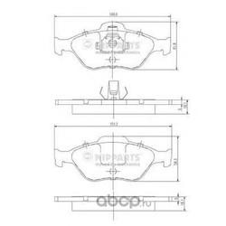 Комплект тормозных колодок, дисковый тормоз (Nipparts) J3603065