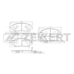 Колодки тормозные (Zekkert) BS1777