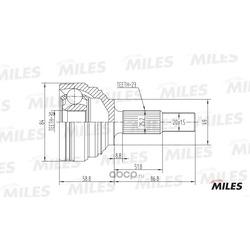 ШРУС RENAULT MEGANE 1.4-1.6 03- нар. (Miles) GA20396