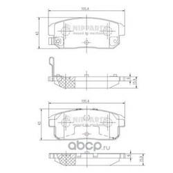 Комплект тормозных колодок, дисковый тормоз (Nipparts) J3613018