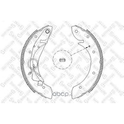 Комплект тормозных колодок (Stellox) 430100SX