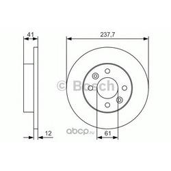 Тормозной диск (Bosch) 0986479S45